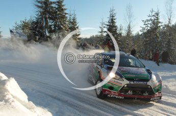 ©  North One Sport Limited 2011/Octane Photographic. 2011 WRC Sweden SS5 Vargassen lI, Friday 11th February 2011. Digital ref : 0141CB1D7063
