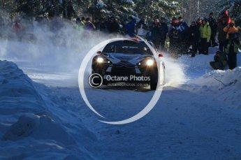 ©  North One Sport Limited 2011/Octane Photographic. 2011 WRC Sweden SS5 Vargassen lI, Friday 11th February 2011, Kimi Raikkonen/Kaj Lindstrom, Citroen DS3 WRC. Digital ref : 0141LW7D8787
