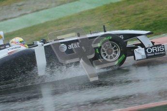 World © Octane Photographic 2011.  Formula 1 testing Saturday 12th March 2011 Circuit de Catalunya. Williams FW33 - Pastor Maldonado. Digital ref : 0018CB1D4272