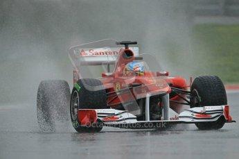 World © Octane Photographic 2011.  Formula 1 testing Saturday 12th March 2011 Circuit de Catalunya. Ferrari 150° Italia - Fernando Alonso. Digital ref : 0018CB1D4346
