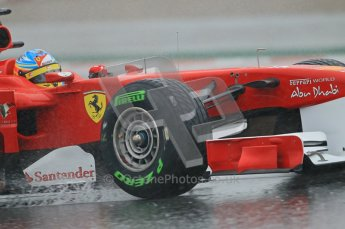 World © Octane Photographic 2011.  Formula 1 testing Saturday 12th March 2011 Circuit de Catalunya. Ferrari 150° Italia - Fernando Alonso. Digital ref : 0018CB1D4351