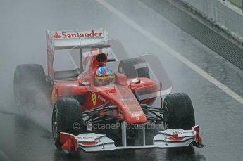 World © Octane Photographic 2011. Formula 1 testing Saturday 12th March 2011 Circuit de Catalunya. Ferrari 150° Italia - Fernando Alonso. Digital ref : 0018CB1D4416