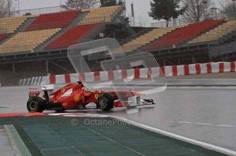 World © Octane Photographic 2011.  Formula 1 testing Saturday 12th March 2011 Circuit de Catalunya. Ferrari 150° Italia - Fernando Alonso. Digital ref : 0018LW7D5953