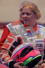 © Octane Photographic Ltd. 2012. Autosport International 2012 Celebrity Karting for the Race To Recovery charity. 12th January 2012. Alice Powell. Digital Ref : 0206cb1d1029
