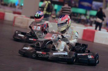 © Octane Photographic Ltd. 2012. Autosport International 2012 Celebrity Karting for the Race To Recovery charity. 12th January 2012. Digital Ref : 0206cb1d1571