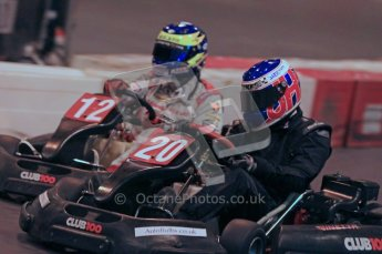 © Octane Photographic Ltd. 2012. Autosport International 2012 Celebrity Karting for the Race To Recovery charity. 12th January 2012. Digital Ref : 0206cb1d1758
