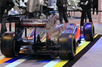 © Octane Photographic Ltd. 2012. Autosport International F1 Cars Old and New. McLaren show car rear end. Digital Ref : 0207cb1d0758
