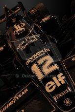 © Octane Photographic Ltd. 2012. Autosport International F1 Cars Old and New. Ayrton Senna Lotus 97T on the Classic Lotus stand, Historic F1. Digital Ref : 0207cb7d1943