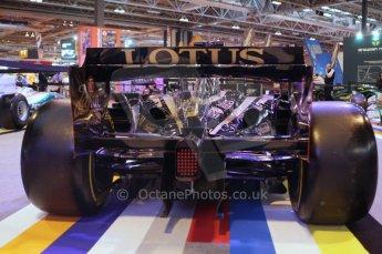 © Octane Photographic Ltd. 2012. Autosport International F1 Cars Old and New. Renault show car rear end. Digital Ref : 0207lw7d2406