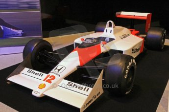 © Octane Photographic Ltd. 2012. Autosport International F1 Cars Old and New. Ayrton Senna McLaren MP4/4 in the Senna display, Historic F1. Digital Ref : 0207cb7d0195