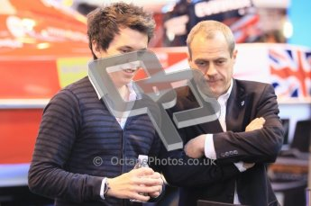 Autosport International 2012 - Lord Paul Drayson and Johney Cocker. Digital Ref : 0214cb1d0844