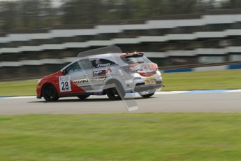 © Octane Photographic Ltd. BARC Dunlop Production Touring Car Trophy practice session 21st April 2012. Donington Park. Steve Johnson, Vauxhall Astra VXR. Digital Ref : 0298lw7d6282
