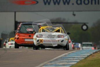 © Octane Photographic Ltd. BritCar Production Cup Championship race. 21st April 2012. Donington Park. Tony Rogers, Mazda MX5. . Digital Ref : 0300lw1d2002