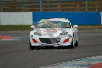 © Octane Photographic Ltd. BritCar Production Cup Championship race. 21st April 2012. Donington Park. Tony Rogers, Mazda MX5. Digital Ref : 0300lw1d2157