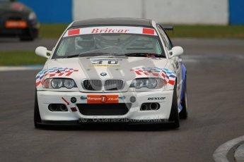 © Octane Photographic Ltd. BritCar Production Cup Championship race. 21st April 2012. Donington Park. Guy Povey, Povey Motorsport, BMW M3 CSL. Digital Ref : 0300lw1d2199