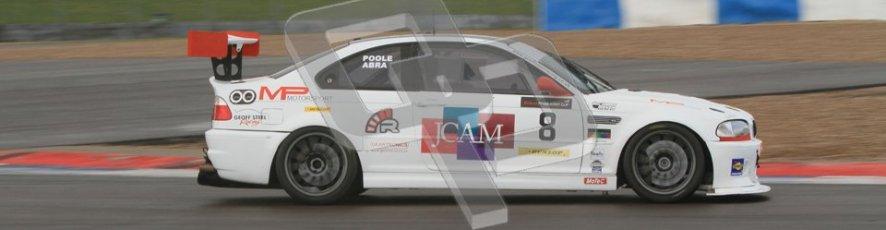 © Octane Photographic Ltd. BritCar Production Cup Championship race. 21st April 2012. Donington Park. Richard Abra/Mark Poole, Geoff Steel racing, BMW M3 CSL. Digital Ref : 0300lw7d7299