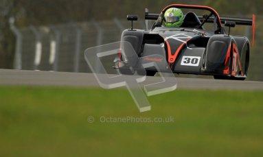 © Carl Jones/Octane Photographic Ltd. 20th October 2012. Darcy Smith, Radical SR4, OSS, Donington Park. Digital Ref : 0549ce7d1863