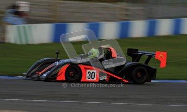 © Carl Jones/Octane Photographic Ltd. 20th October 2012. Darcy Smith, Radical SR4, OSS, Donington Park. Digital Ref : 0549img_3967