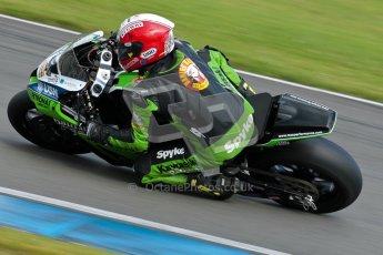 © Octane Photographic Ltd/Chris Enion 2012. British Superbikes test day – Donington Park, Tuesday 7th August 2012. Michael Rutter - MSS Bathams Kawasaki. Digital Ref : 0450CE1D0505