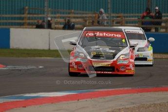 © Octane Photographic Ltd. BTCC - Round Two - Donington Park - Quail. Saturday 14th April 2012. Mat Jackson, Ford Focus, Redstone Racing. Digital ref : 0294lw1d7354