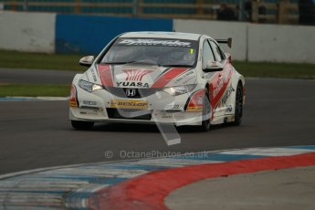 © Octane Photographic Ltd. BTCC - Round Two - Donington Park - Quail. Saturday 14th April 2012. Matt Neal, Honda Civic, Honda Yuasa Racing Team. Digital ref : 0294lw1d7497