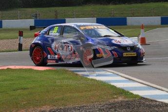© Octane Photographic Ltd. BTCC - Round Two - Donington Park - Race 1. Sunday 15th April 2012. Jeff Smith, Honda Civic, Pirtek Racing. Digital ref : 0295lw7d3386