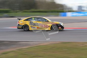 © Octane Photographic Ltd. BTCC - Round Two - Donington Park - Race 1. Sunday 15th April 2012. Chris James at speed in his Vauxhall Vectra. Digital ref : 0295lw7d3976