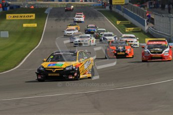 © Octane Photographic Ltd. BTCC - Round Two - Donington Park - Race 2. Sunday 15th April 2012. Digital ref : 0296lw7d4318