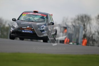© Octane Photographic Ltd. BTCC - Round Two - Donington Park. AirAsia Renault UK Clio Cup Championship practice. Saturday 14th April 2012. Josh Cook, 20Ten Racing. Digital ref : 0292lw1d6552