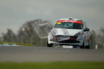 © Octane Photographic Ltd. BTCC - Round Two - Donington Park. AirAsia Renault UK Clio Cup Championship practice. Saturday 14th April 2012. Nic Hamilton, Total Control Racing. Digital ref : 0292lw1d6621