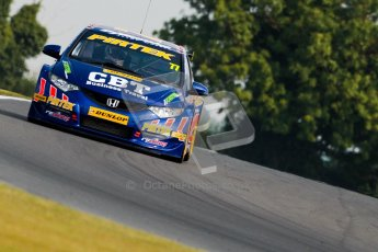 © Octane Photographic Ltd./Chris Enion. British Touring Car Championship – Round 6, Snetterton, Saturday 11th August 2012. Free Practice 1. Andrew Jordan - Pirtek Racing, Honda Civic. Digital Ref : 0452ce1d0199-2