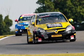 © Octane Photographic Ltd./Chris Enion. British Touring Car Championship – Round 6, Snetterton, Saturday 11th August 2012. Free Practice 1. Dave Newsham - Team ES Racing.com, Vauxhall Vectra and Jason Plato - MG KX Momentum Racing, MG6. Digital Ref : 0452ce1d0207