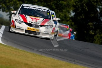 © Octane Photographic Ltd./Chris Enion. British Touring Car Championship – Round 6, Snetterton, Sunday 12th August 2012. Race 1. Matt Neal - Honda Yuasa Racing Team, Honda Civic. Digital Ref : 0455ce1d0056