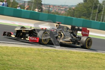 © 2012 Octane Photographic Ltd. Hungarian GP Hungaroring - Saturday 28th July 2012 - F1 Qualifying. Lotus E20 - Kimi Raikkonen. Digital Ref : 0430lw1d7247