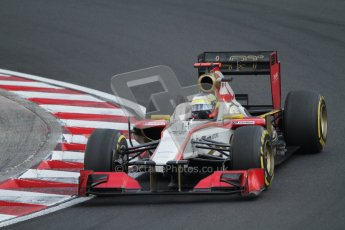 © 2012 Octane Photographic Ltd. Hungarian GP Hungaroring - Saturday 28th July 2012 - F1 Qualifying. HRT F112 - Pedro de La Rosa. Digital Ref : 0430lw7d6845