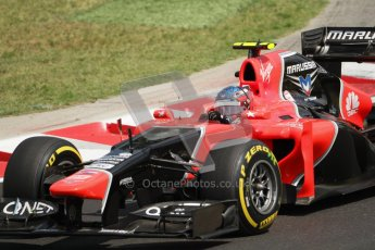© 2012 Octane Photographic Ltd. Hungarian GP Hungaroring - Saturday 28th July 2012 - F1 Qualifying. Marussia MR01 - Charles Pic. Digital Ref : 0430lw7d7125