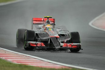 © 2012 Octane Photographic Ltd. Hungarian GP Hungaroring - Friday 27th July 2012 - F1 Practice 2. McLaren MP4/27 - Lewis Hamilton. Digital Ref : 0426lw1d5600
