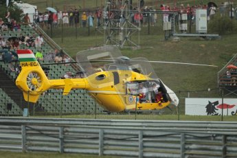 © 2012 Octane Photographic Ltd. Hungarian GP Hungaroring - Friday 27th July 2012 - F1 Practice 2. Medical Helicopter on standby as always at FIA F1 events. Digital Ref : 0426lw1d5655