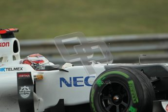 © 2012 Octane Photographic Ltd. Hungarian GP Hungaroring - Friday 27th July 2012 - F1 Practice 2. Sauber C31 - Kamui Kobayashi. Digital Ref : 0426lw1d6047