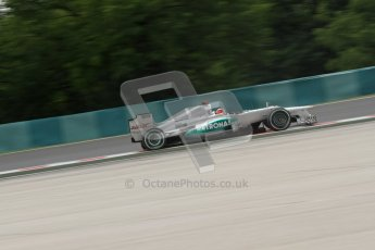 © 2012 Octane Photographic Ltd. Hungarian GP Hungaroring - Friday 27th July 2012 - F1 Practice 2. Mercedes W03 - Michael Schumacher. Digital Ref : 0426lw7d5604