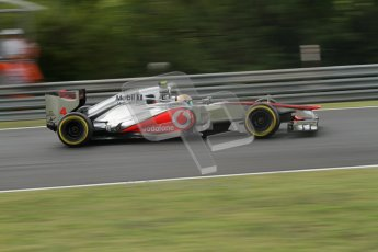 © 2012 Octane Photographic Ltd. Hungarian GP Hungaroring - Friday 27th July 2012 - F1 Practice 2. McLaren MP4/27 - Lewis Hamilton. Digital Ref : 0426lw7d5686