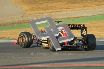 © 2012 Octane Photographic Ltd. Barcelona Winter Test 1 Day 1 - Tuesday 21st February 2012. Lotus E20 - Romain Grosjean. Digital Ref : 0226lw1d6089