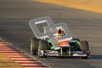 © 2012 Octane Photographic Ltd. Barcelona Winter Test 1 Day 1 - Tuesday 21st February 2012. Force India VJM05 - Nico Hulkenberg. Digital Ref : 0226lw1d6474