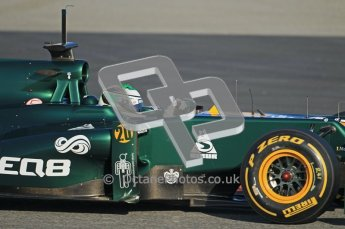 © 2012 Octane Photographic Ltd. Barcelona Winter Test 1 Day 1 - Tuesday 21st February 2012. Caterham CT01 - Heikki Kovalainen. Digital Ref : 0226lw1d6625