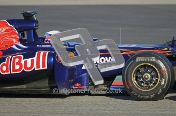 © 2012 Octane Photographic Ltd. Barcelona Winter Test 1 Day 1 - Tuesday 21st February 2012. Toro Rosso STR7 - Daniel Ricciardo. Digital Ref : 0226lw1d6776