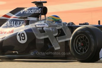 © 2012 Octane Photographic Ltd. Barcelona Winter Test 1 Day 1 - Tuesday 21st February 2012. Williams FW34 - Bruno Senna. Digital Ref : 0226lw1d7337