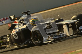 © 2012 Octane Photographic Ltd. Barcelona Winter Test 1 Day 1 - Tuesday 21st February 2012. Williams FW34 - Bruno Senna. Digital Ref : 0226lw1d7361