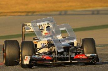 © 2012 Octane Photographic Ltd. Barcelona Winter Test 1 Day 2 - Wednesday 21st February 2012. Sauber C31 - Sergio Perez. Digital Ref : 0227lw1d7533
