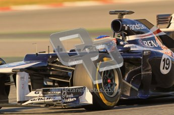 © 2012 Octane Photographic Ltd. Barcelona Winter Test 1 Day 2 - Wednesday 21st February 2012. Williams FW34 - Valtteri Bottas. Digital Ref : 0227lw1d7565
