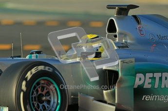 © 2012 Octane Photographic Ltd. Barcelona Winter Test 1 Day 2 - Wednesday 21st February 2012. Mercedes W03 - Nico Rosberg. Digital Ref : 0227lw1d7628